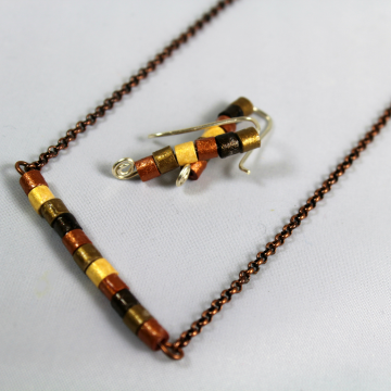Eco-Friendly Paper Quill Beads Jewelry Set