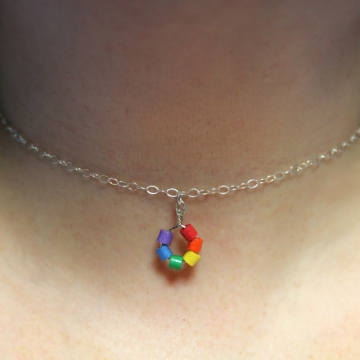 Minimalist Paper Quilled Rainbow Choker
