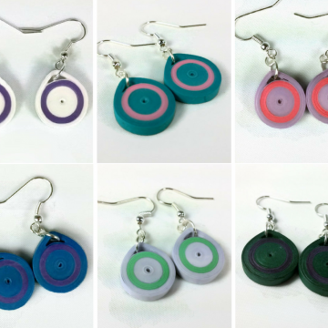 Minimal Paper Quilling Handmade Earrings