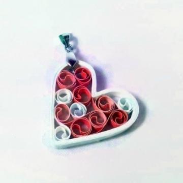 Paper Heart Pendant Signature Sweetheart Gift