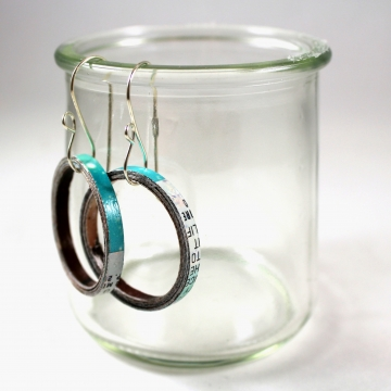 Upcycled Paper Hoop Earrings with Artisan Earwires